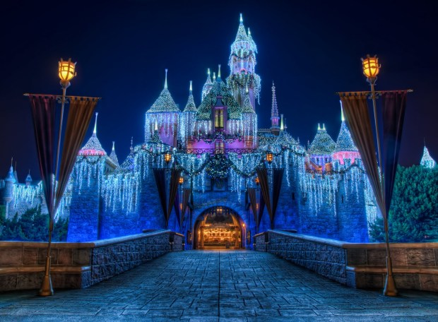 Disneyland Christmas Castle