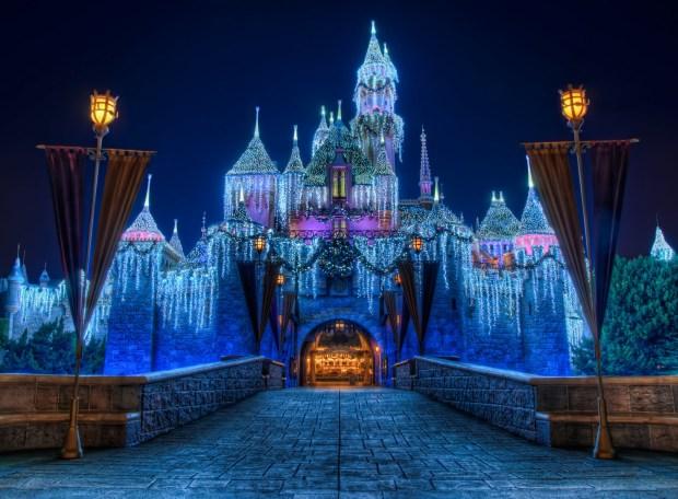 Disneyland Christmas Castle